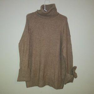 Zara knit womens sweater size M tan
